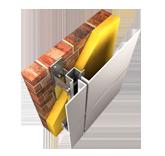 Detalle aislamiento térmico con fachada ventilada